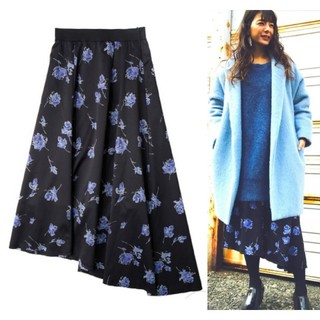 フレイアイディー(FRAY I.D)のDanny&Anne 星玲奈さん/スザンヌさん着用 オリジナルプリントスカート(ロングスカート)