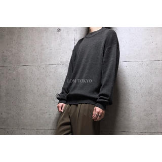 [used]dark brown wool blend knit.(ニット/セーター)