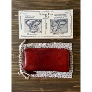 クリスチャンポー(CHRISTIAN PEAU)のクリスチャンポー 長財布 赤 本革(財布)
