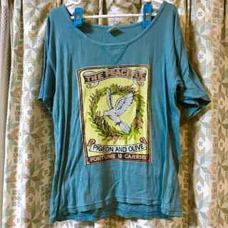 アールエヌエーエヌ(RNA-N)の【最終値下げ】RNA-N Tシャツ ブルー 鳥(Tシャツ(半袖/袖なし))