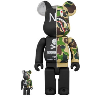 A BATHING APE - bape× NEIGHBORHOOD BE@RBRICK 100% & 400%