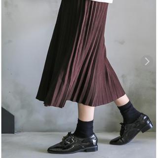 セレクト(SELECT)のニットプリーツスカート(ロングスカート)