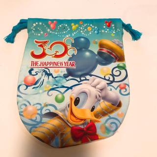 ディズニー(Disney)のディズニー 30周年 ミニ巾着 ドナルド デイジー(日用品/生活雑貨)