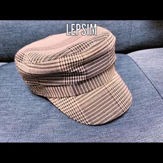 レプシィム(LEPSIM)のグレンチェックワークキャップ/マリンキャップ(キャップ)