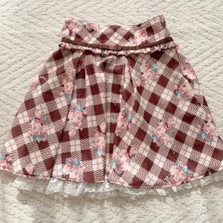 リズリサ(LIZ LISA)の美品!リズリサチェックスカート(ひざ丈スカート)