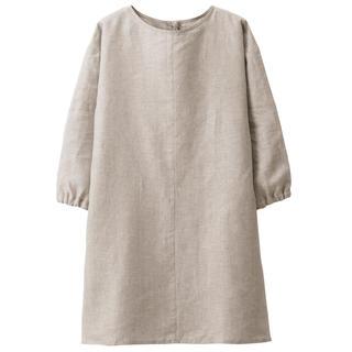 ムジルシリョウヒン(MUJI (無印良品))の新品   無印良品  麻平織 割烹着 (収納/キッチン雑貨)