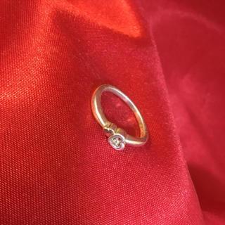 クレージュ(Courreges)のクレージュ ダイヤ0.01付き指輪 K18 SV925(リング(指輪))
