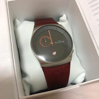 スカーゲン(SKAGEN)のスカーゲン レザーベルトウォッチ 腕時計(腕時計)