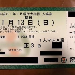 1/13(日) 大相撲1月場所 初日 1人マスA席 1枚(相撲/武道)
