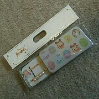 ディズニー(Disney)の缶ケース入り ヘアピン ミッキーウフ  新品未使用(ヘアピン)