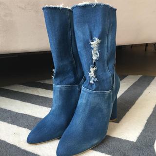 イエローブーツ(Yellow boots)のYELLO デニムショートブーツ(ブーツ)