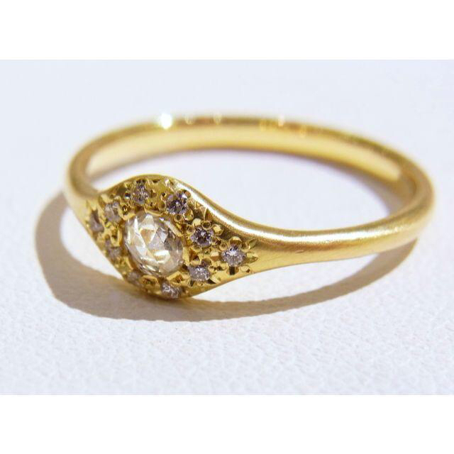 hum ハム ローズカットダイヤモンド リング 定価20万円超え レディースのアクセサリー(リング(指輪))の商品写真