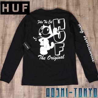 ハフ(HUF)の◆HUF × FELIX コラボ ロングTシャツ /ブラック Mサイズ(Tシャツ/カットソー(七分/長袖))