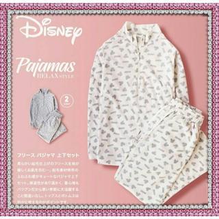 ディズニー(Disney)のDisneyミッキー♥白 大人用フリースパジャマ 上下セット(パジャマ)