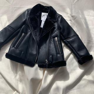 ザラキッズ(ZARA KIDS)の新品タグ付き Zara girls ライダースジャケット 120(ジャケット/上着)