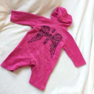 ピンク ベロア ロンパース カバーオール 赤ちゃん