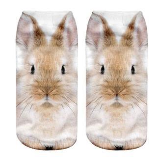 うさぎ ウサギくつ下♪  新品未使用品 送料無料♪(003)(小動物)