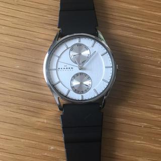 スカーゲン(SKAGEN)のSKAGEN 時計 ブラック シンプル スカーゲン シルバー (腕時計(アナログ))