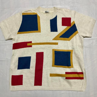ナイガイ(NAIGAI)のニット半袖セーター  綿 麻素材 ナイガイ(ニット/セーター)