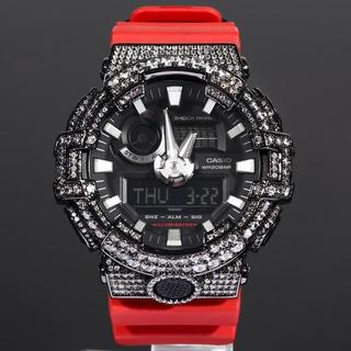 ジーショック(G-SHOCK)のG-SHOCK カスタム GA700 ブラックXレッドベルト Gショック(腕時計(デジタル))