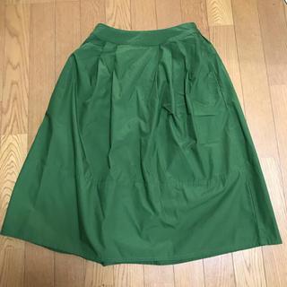 ムジルシリョウヒン(MUJI (無印良品))の無印  イージータックギャザースカート 新品未使用(ひざ丈スカート)