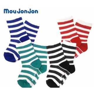 mou jon jon ボーダークルーソックス19cm~21cm(靴下/タイツ)