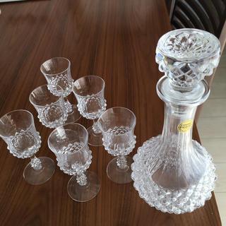 クリスタルダルク(Cristal D'Arques)のクリスタルダルク ワイングラス デカンタセット(グラス/カップ)