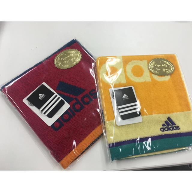 adidas(アディダス)の[ひよこ様]アディダス ハンカチ とふりっこ セット インテリア/住まい/日用品の日用品/生活雑貨/旅行(タオル/バス用品)の商品写真