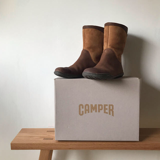 CAMPER カンペール スエードボアショートブーツ 24.5〜25cm(ブーツ)