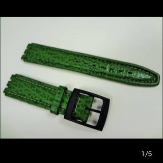 スウォッチ(swatch)の①新品 長期保管品 Swatch用 レザーバンド 腕時計 交換ベルト スウォッチ(レザーベルト)