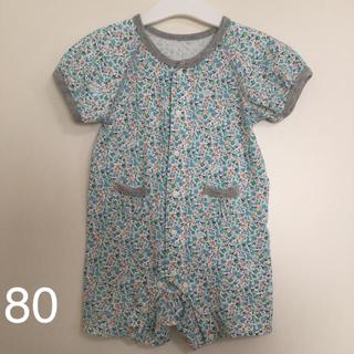 Combi mini - コンビミニ 半袖カバーオール 小花柄 女の子 80