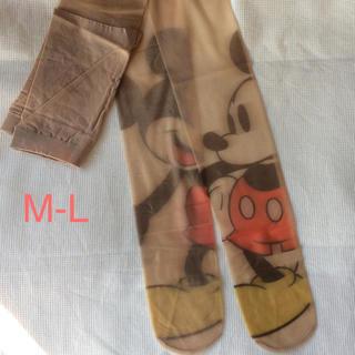 ディズニー(Disney)の新品未使用 ミッキー パンスト MーLサイズ(タイツ/ストッキング)