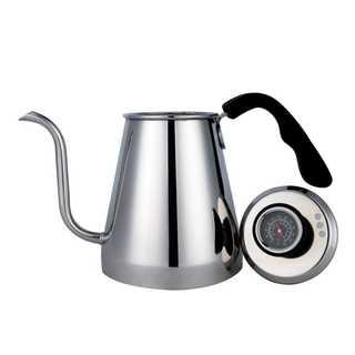 ドリップポット 温度計付き コーヒーケトル ステンレスポット(電動式コーヒーミル)