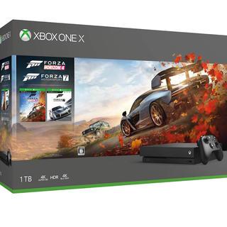 エックスボックス(Xbox)の開封済未使用品 Xbox one x フォルツァ同梱版(家庭用ゲーム本体)