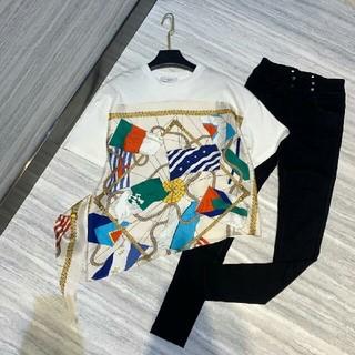 サンドロ(Sandro)のTシャツ SANDRO  サンドロ 半袖 トップス シルク 切替 ブラウス(シャツ/ブラウス(半袖/袖なし))