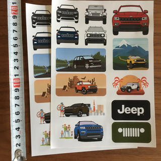 ジープ(Jeep)のjeep ステッカー (車外アクセサリ)
