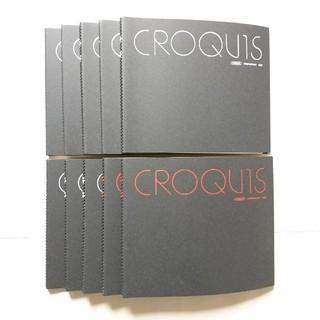 マルマン クロッキー帳 Sサイズ クリームコットン紙 ホワイト8冊、レッド2冊(スケッチブック/用紙)