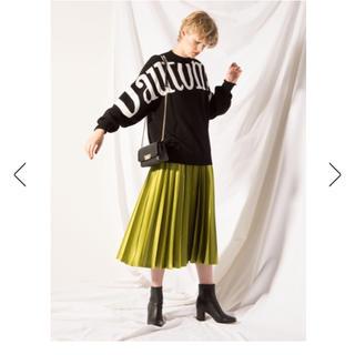 フレイアイディー(FRAY I.D)のFRAYI.D サテンプリーツスカート 完売人気 グリーン(ロングスカート)