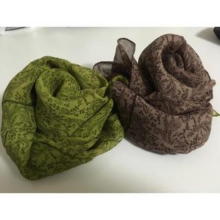 アンクライン(ANNE KLEIN)の未使用♡ANNE KLEINスカーフ 緑色(バンダナ/スカーフ)