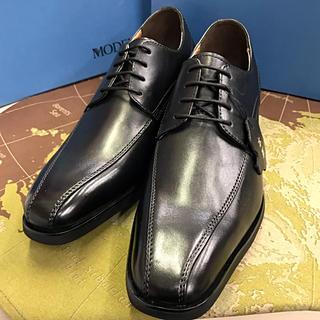 マドラス(madras)のmadras MODELLO 151キップ革スワールトウビジネス。黒色。26cm(ドレス/ビジネス)