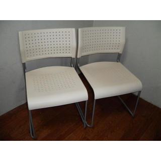 パスチェ●ミーティングチェア●椅子 簡易椅子 2個まとめて●1-1691 (オフィスチェア)