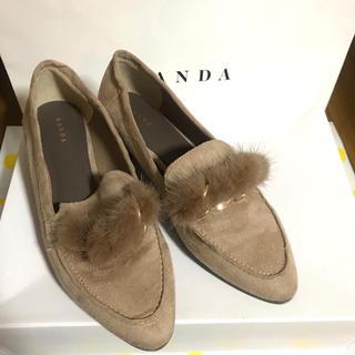 ランダ(RANDA)のRANDA ファーチェーンローファー(ローファー/革靴)