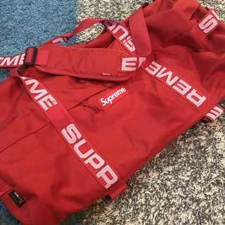 シュプリーム(Supreme)のSupreme 18SS Duffle Bag 普通サイズ  赤(ドラムバッグ)
