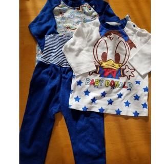 ディズニー(Disney)のディズニーパジャマ80㎝上2枚、ズボン1枚(パジャマ)