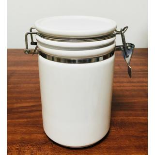 フランフラン(Francfranc)のフランフラン ボン キャニスター ホワイト 未使用品(容器)