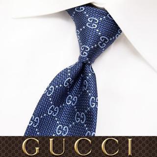 グッチ(Gucci)の【58】 GUCCI グッチ 新品本物 ネイビー SILK ネクタイ(ネクタイ)