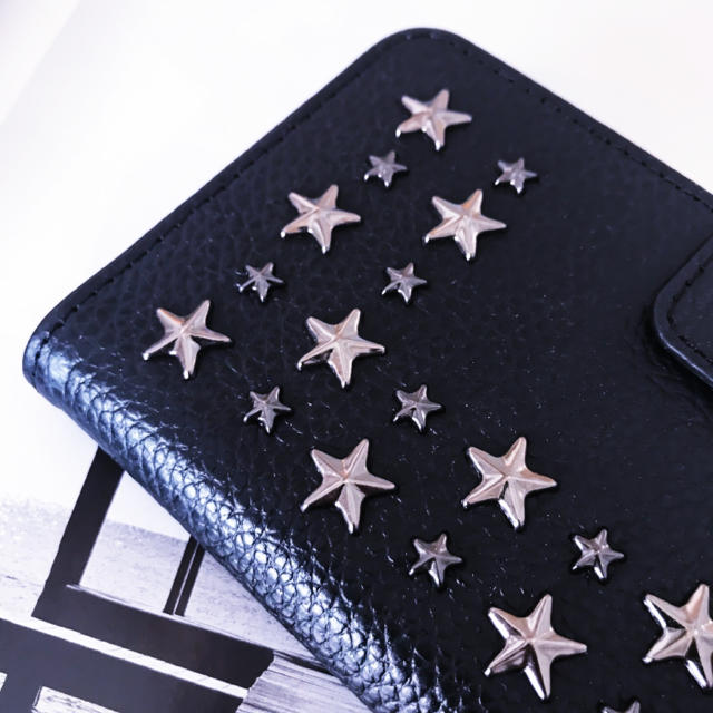 ENLA★ブラック スターパレード スタッズレザー iPhoneケース 新品の通販 by heavenly's shop|ラクマ