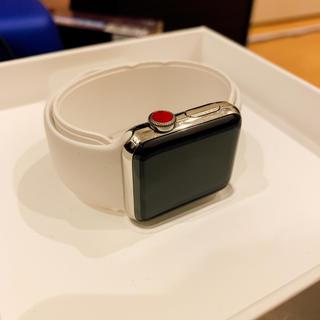 アップルウォッチ(Apple Watch)のAppleWatch Series3 GPS+CEL ステンレススチール(スマートフォン本体)