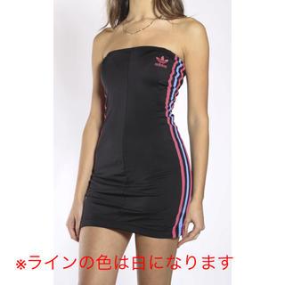 アディダス(adidas)のVINTAGE ADIDAS TRACK TUBE DRESS(ミニワンピース)