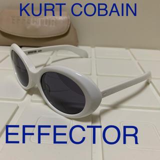 エフェクター(EFFECTOR)のEFFECTOR wah Ⅱ カートコバーン サングラス ホワイト(サングラス/メガネ)